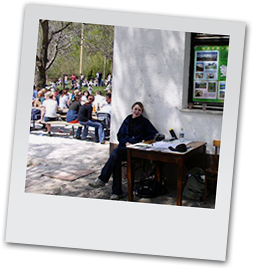 Information stand of Simona's Institute for Nature Conservation